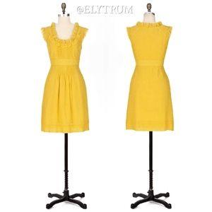 Anthropologie Moulinette Soeurs Yellow dot dress